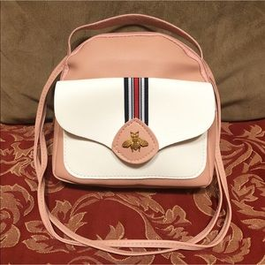 Miniature Fabulously Function Handbag. Blush /Pink